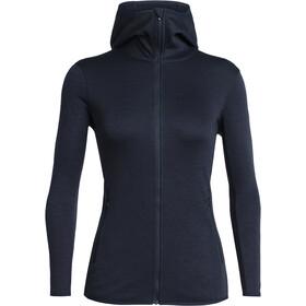 Icebreaker Elemental LS Zip Hood Jacket Women Midnight Navy
